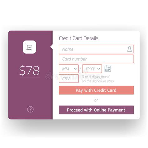 credit card checkout template modern user interface checkout screen template for stock