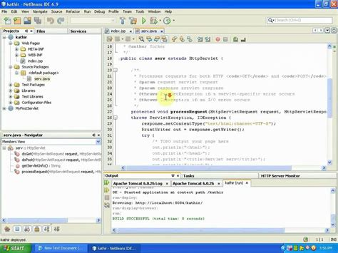 servlet tutorial on netbeans running simple servlet using netbeans youtube