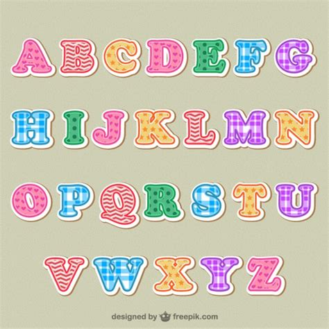 colorful letters colorful alphabet letters vector free