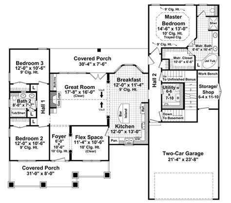 house plans monster bungalow style house plans 1816 square foot home 1