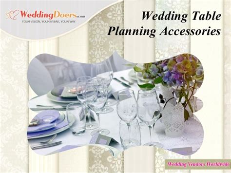 Wedding Planning Accessories by Wedding Table Planning Accessories