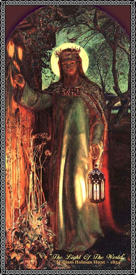 To The Light Of The World by Light Of The World William Holman Hunt Mikemasonbooks