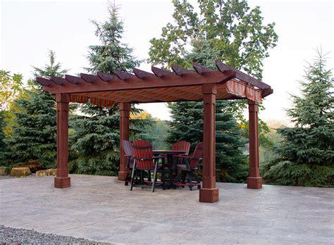 wood pergola mendoza wood pergola amish yard