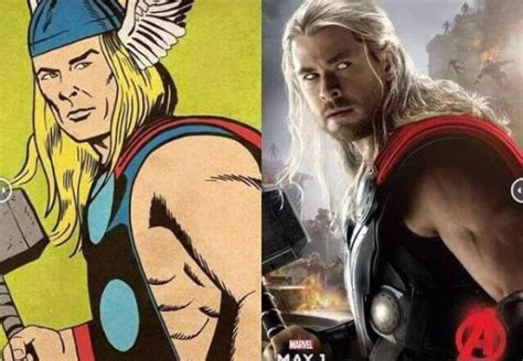 thor movie vs comic the original comic avengers vs human movie avengers