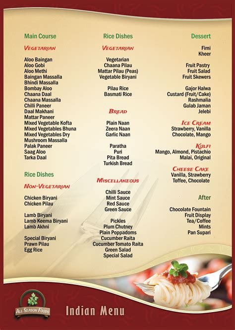 Food menu all season foods halal catering sandwich wedding