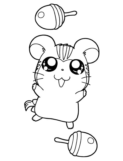 Coloring Page Hamtaro Coloring Pages 70 70s Coloring Pages