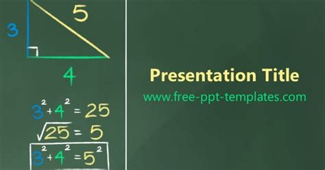 Pythagorean Theorem Ppt Template 4 H Powerpoint Template