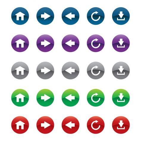 imagenes de botones web gratis set de botones para web en diferentes colores descargar