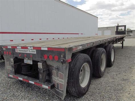 flat bed trailers 2009 transcraft flatbed trailer for sale spokane wa