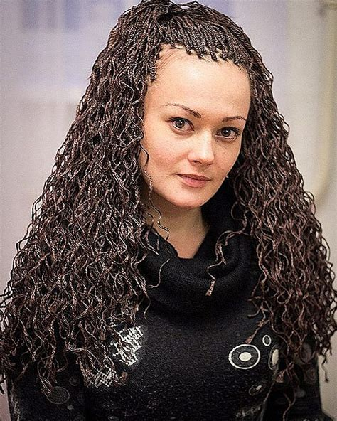 boxed braids with wavy hair box braids curly hairstyles short curly hair