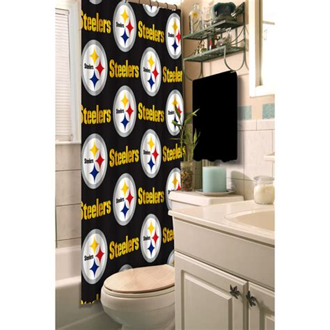 steelers bathroom nfl pittsburgh steelers shower curtain polyester shower