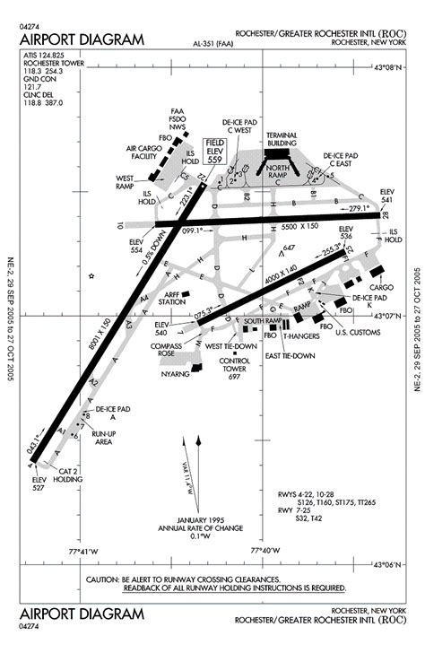airport diagram greater rochester intl airport