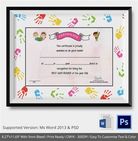 templates for school award certificates school certificate template 17 free word psd format