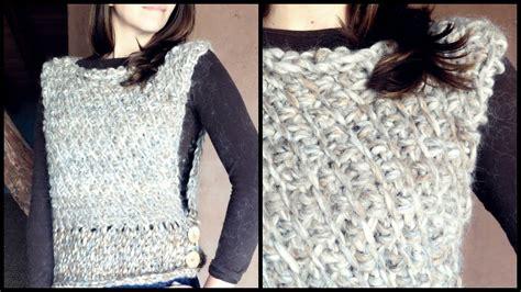 como tejer poncho con manga c 243 mo tejer un chaleco a crochet en punto tunecino diagonal