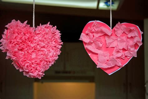 How To Make Tissue Paper Hearts - tissue paper hearts seasonal valentines day