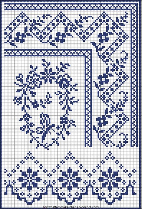 free cross stitch pattern maker from photo cross stitch borders no color chart just use pattern