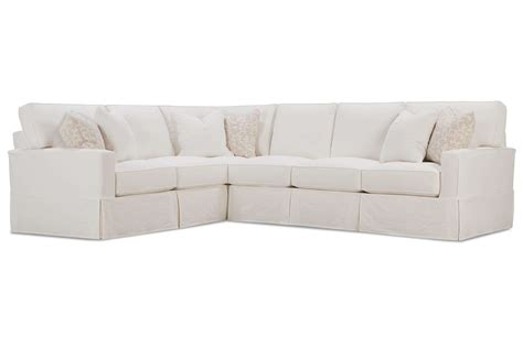 2 Piece Sectional Sofa Slipcovers Harborside Slipcovered 2 2 Sectional Sofas