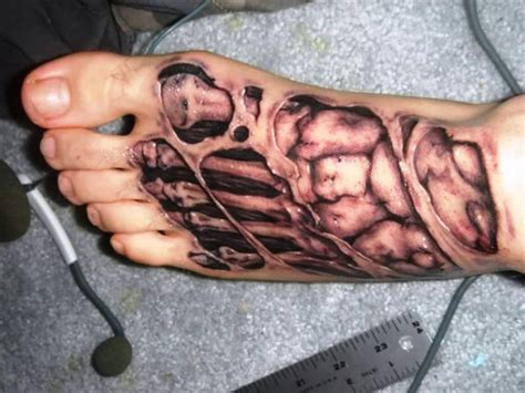 bones tattoo unusually unique 3d tattoos