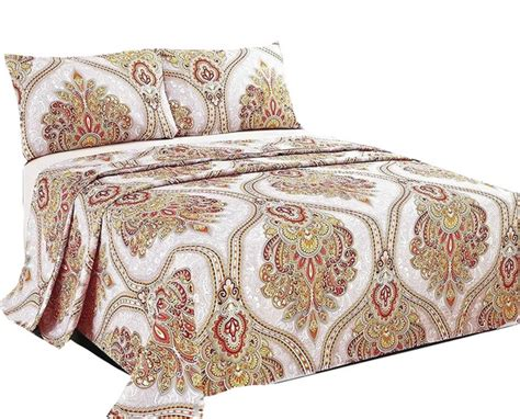 gold pattern sheets sunshine festival white gold fancy patterned flat sheet