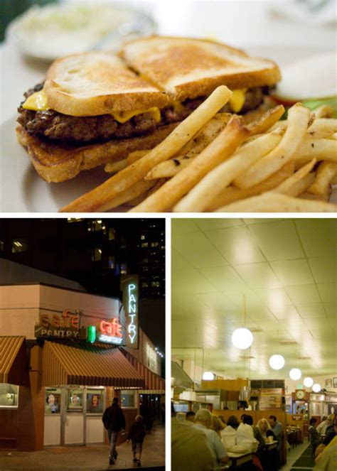 the best hamburger sandwich at the original pantry cafe in