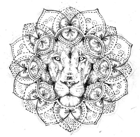 lion mandala tattoo design free by agresivoo on deviantart