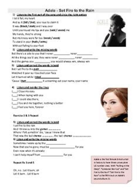 english themes songs song worksheet call me may be fill in the blank work