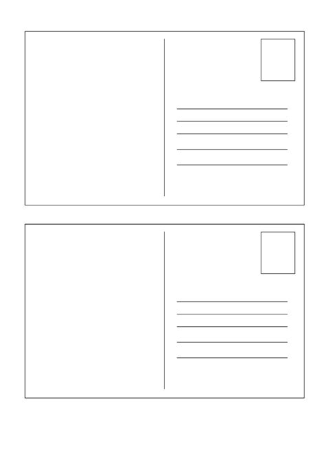 postcard template word free business template