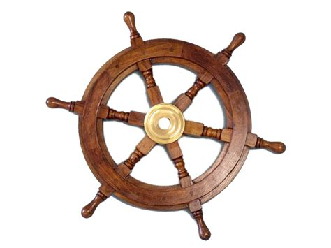 ship wheel 12 quot brass and wood wall decoration nautical