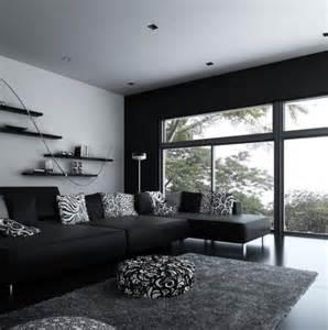 d 233 coration salon noir et blanc design