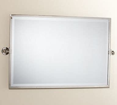 Kensington Pivot Mirror Extra Large Wide Rectangle Chrome Finish Traditional