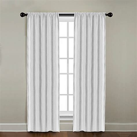 bed bath and beyond linen curtains citylinen linen rod pocket window curtain panels and