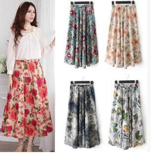 rok linen motif sale skirt summer bohemia skirt