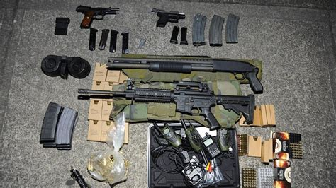 arsenal of weapons portland police arrest man with arsenal of weapons