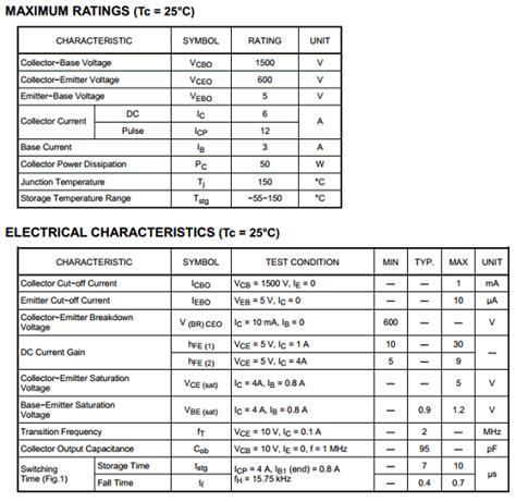 Transistor Horizsontal D 2498 1 d2498 datasheet pdf toshiba