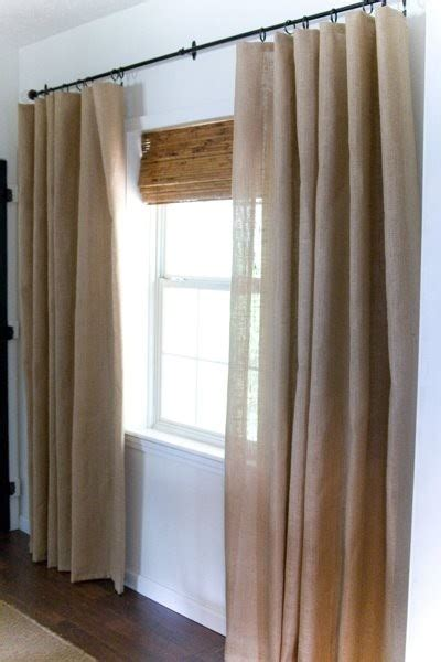 burlap curtains diy burlap curtains diy by dorothy for the home pinterest
