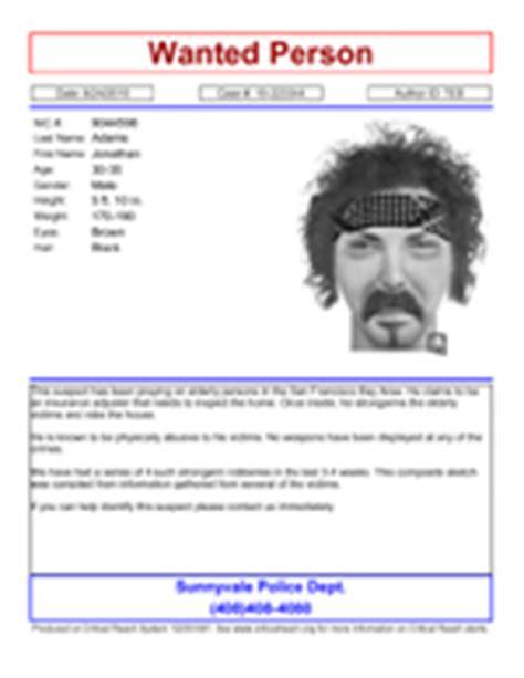 crime bulletin template the apbnet enforcement alert system