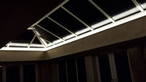 orangery roof with led lights conservatories