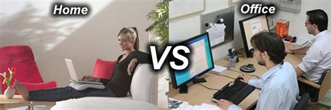business working from home vs working from the office