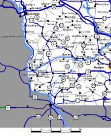 us highway map southwest south west wisconsin highway map