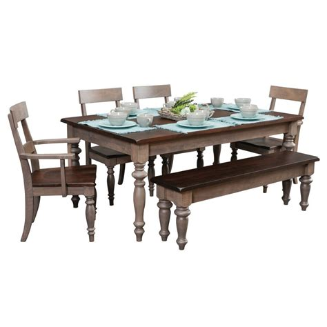 Serenity Table With Chairs And Bench Amish Crafted Furniture Tables And Chairs