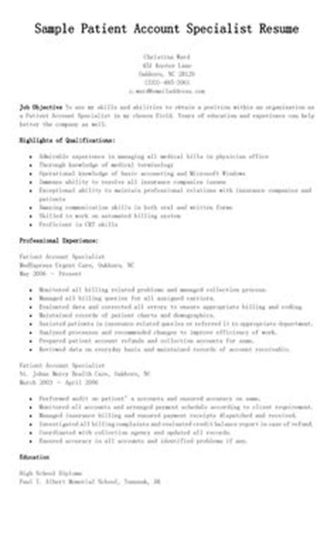 Patient Account Specialist Sle Resume by The World S Catalog Of Ideas