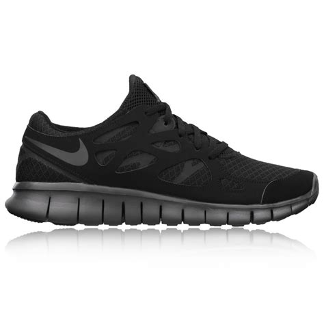 all black sport shoes nike free run 2 running shoes 10