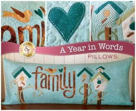 a year in words family march pillow pattern by shabby fabrics