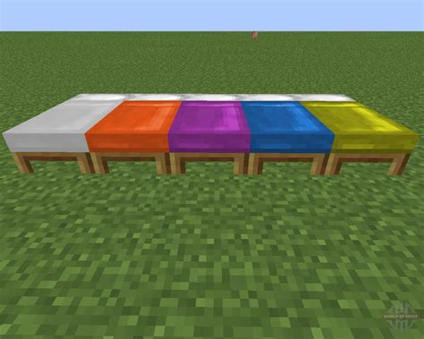 minecraft bed dyeable beds for minecraft