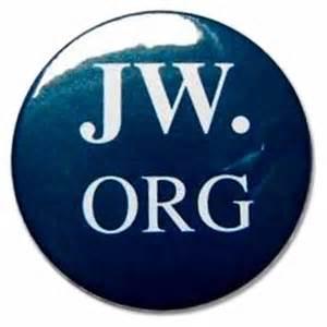 Jw org round button badge front