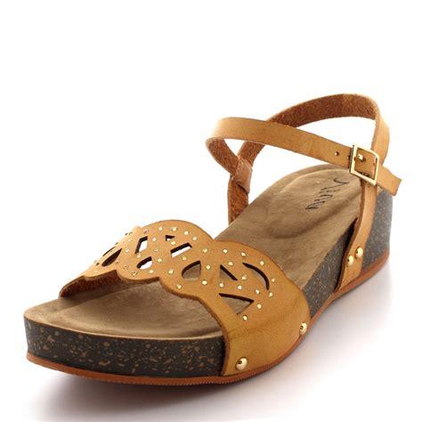 Wedges 5flat Fladeo flat wedge sandals 28 images platform open toe ankle jewelled flat logan khaki satin ankle