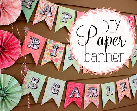 A Paper Banner - scrapbooking paper banner sign sohosonnet creative living