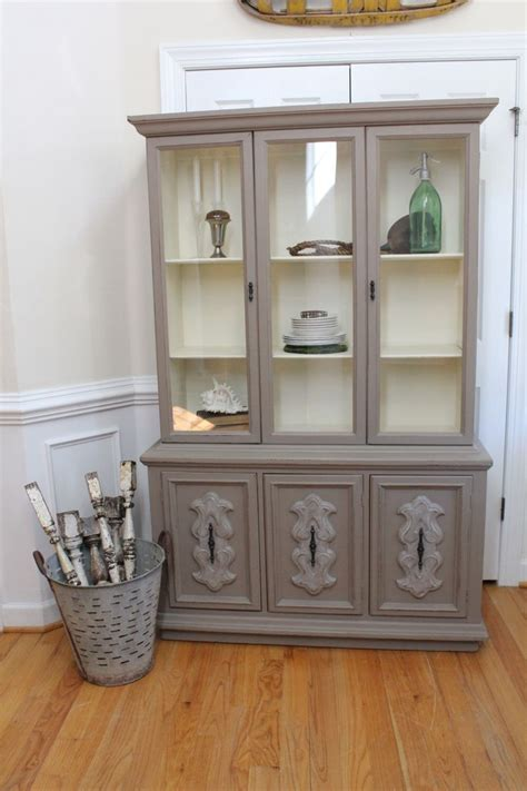 chalk painted china cabinet vintage china cabinet sloan chalk paint coco