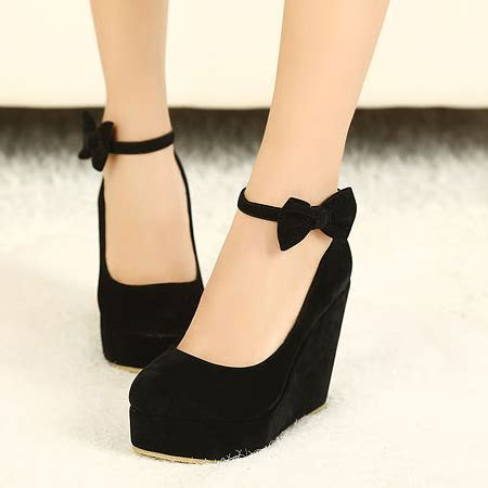 Wedges Pin Merak 4 5cm fashion closed toe high wedges black suede