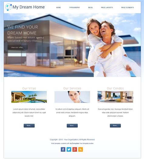 free templates for website building free online template builder